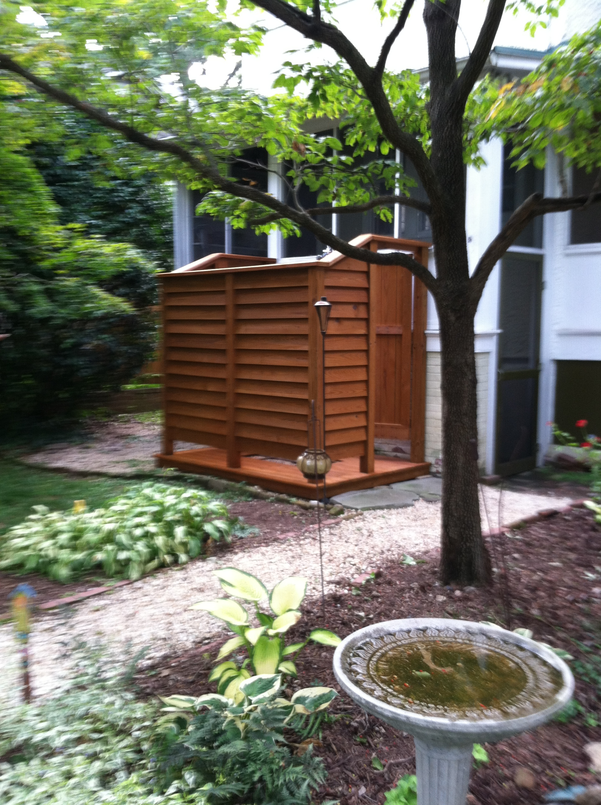 How to make an outdoor shower - 1169